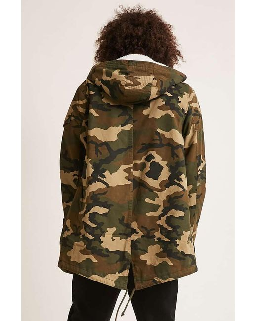 0399ce20b Forever 21 's Camo Print Utility Jacket in Green for Men - Lyst