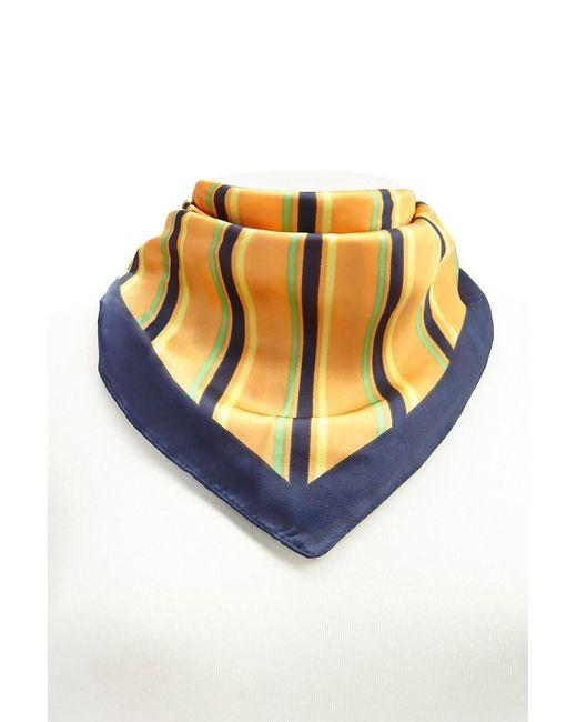 Forever 21 Multicolor Striped Square Scarf , Orange/multi