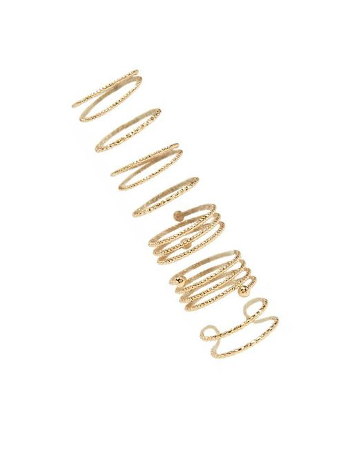Forever 21 | Metallic Etched Ring Set | Lyst