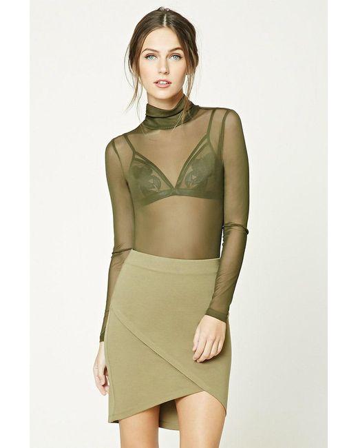 Forever 21 - Green Tulip Mini Skirt - Lyst