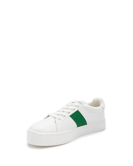 350c55dd0243 ... Lyst Forever 21 - Green Women s Striped Platform Sneakers ...