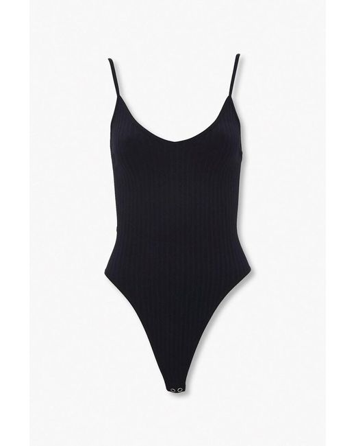 Forever 21 Synthetic Ribbed Seamless Thong Bodysuit in ...