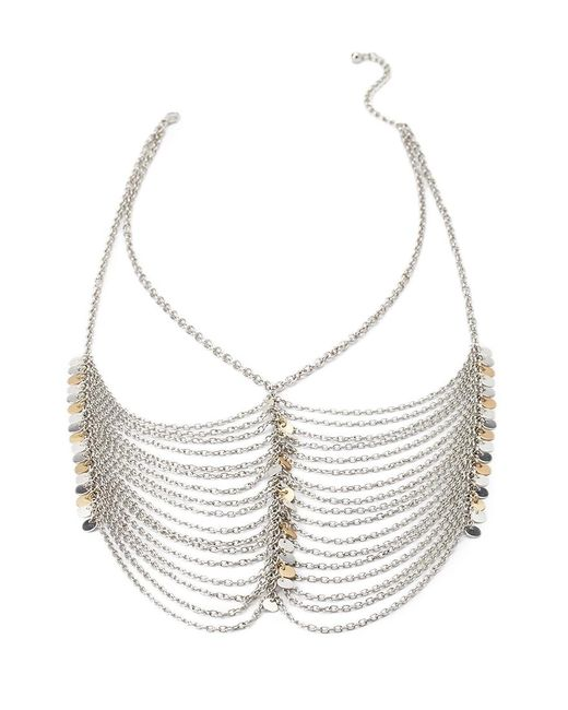 Forever 21   Metallic Layered Statement Necklace   Lyst
