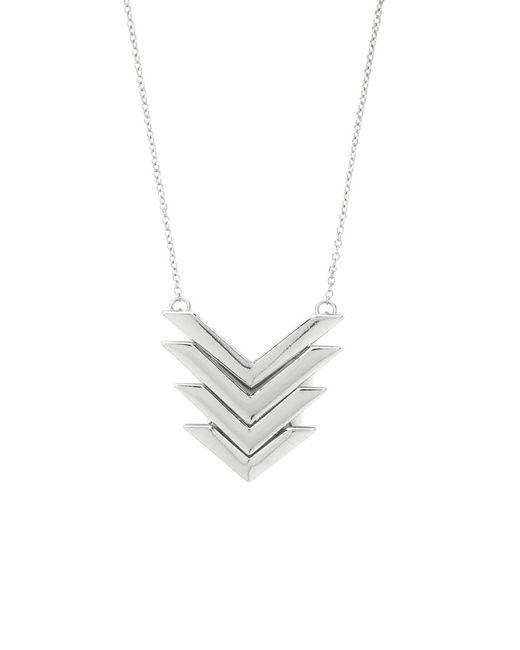 Forever 21 | Metallic Cutout Chevron Pendant Necklace | Lyst