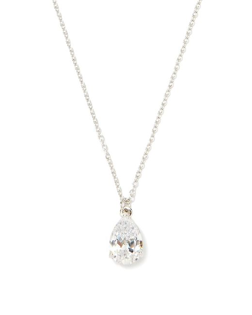 Forever 21 | Metallic Cubic Zirconia Pendant Necklace | Lyst