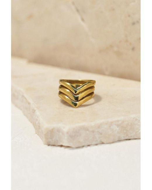 Forever 21   Metallic Emerald Duv Trinity Ring   Lyst