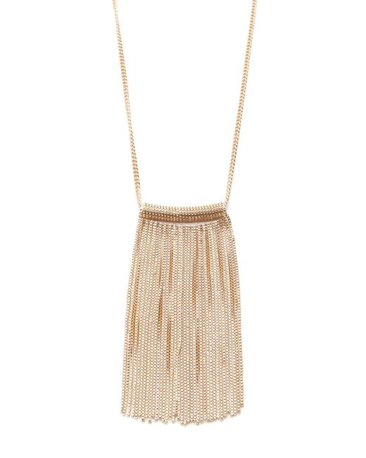 Forever 21   Metallic Chain Fringe Necklace   Lyst