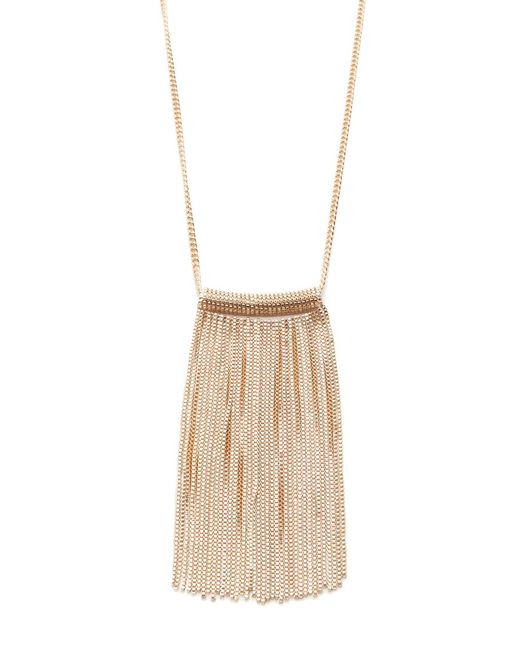 Forever 21 | Metallic Chain Fringe Necklace | Lyst