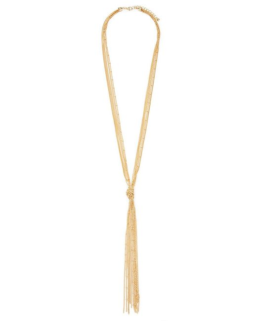Forever 21 | Metallic Knotted-tassel Necklace | Lyst