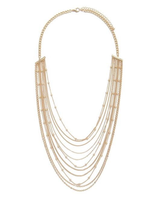 Forever 21 | Metallic Beaded Chain Layered Necklace | Lyst