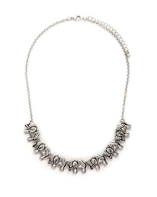 Forever 21 | Metallic Tribal Pattern Bib Necklace | Lyst
