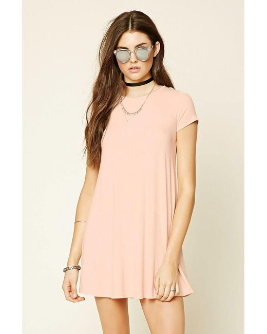 Forever 21 - Pink Lace-up Tent Dress - Lyst