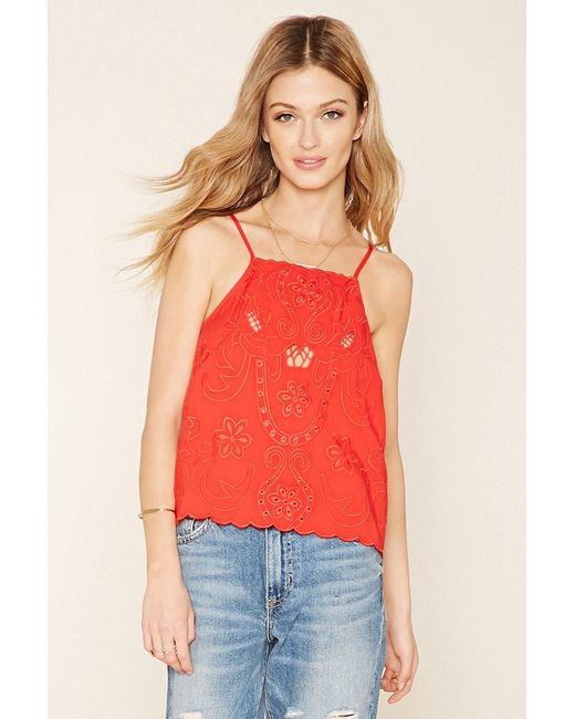 Forever 21   Contemporary Embroidered Cami   Lyst