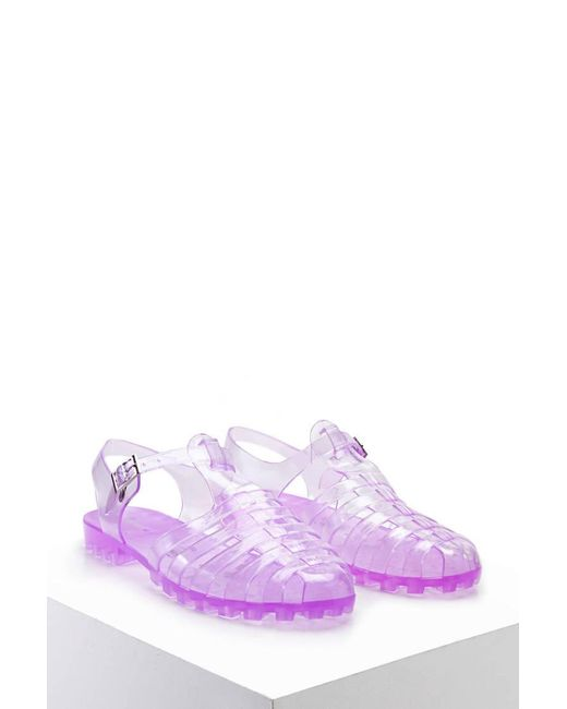 Forever 21   Purple Strappy Jelly Sandals   Lyst