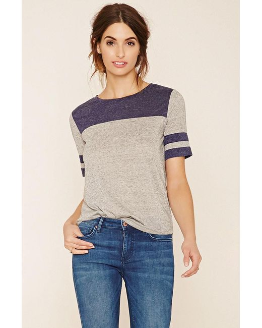 Forever 21   Gray Contemporary Striped Top   Lyst