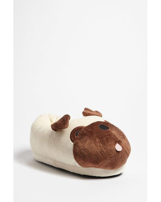 Forever 21 - Natural Pug Fleece Slippers - Lyst