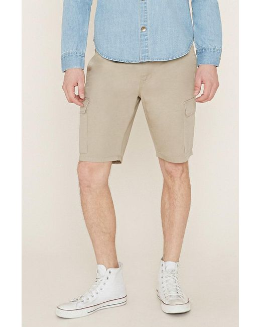 Forever 21 - Natural Cotton Cargo Shorts for Men - Lyst