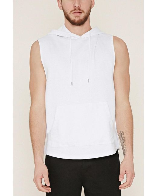 Forever 21 - White Cotton-blend Hoodie for Men - Lyst