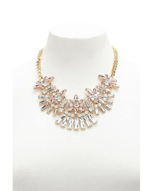 Forever 21 - Metallic Multicolor Faux Gemstone Necklace - Lyst