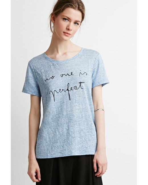 Forever 21 | Blue Perfect Graphic Tee | Lyst