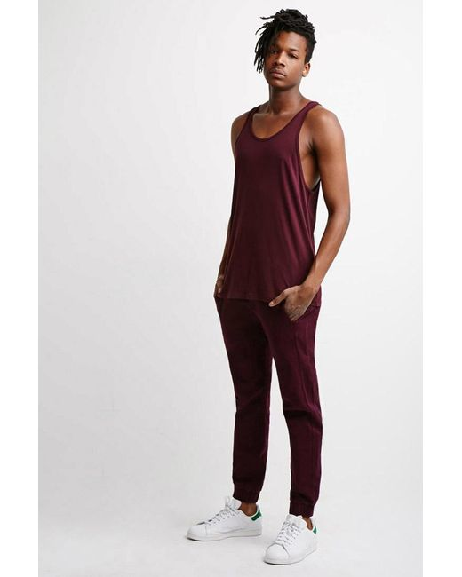 Forever 21   Brown Garment-dyed Chino Joggers for Men   Lyst