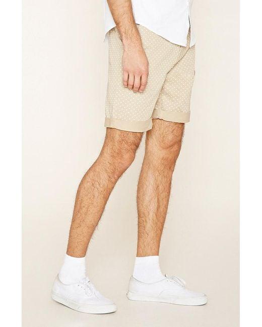 Forever 21 | Natural Polka Dot Chino Shorts for Men | Lyst
