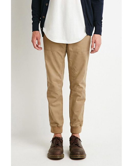 Forever 21 | Natural Paneled Chino Joggers You've Been Added To The Waitlist for Men | Lyst
