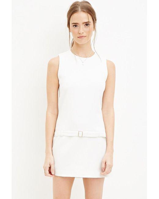 Forever 21 | Natural Belted Drop-waist Dress | Lyst