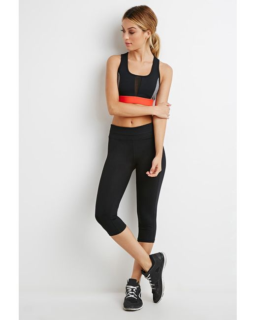 Forever 21 | Black Athletic Capri Leggings | Lyst