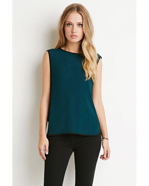 Forever 21 | Black Colorblocked Side Panel Top | Lyst