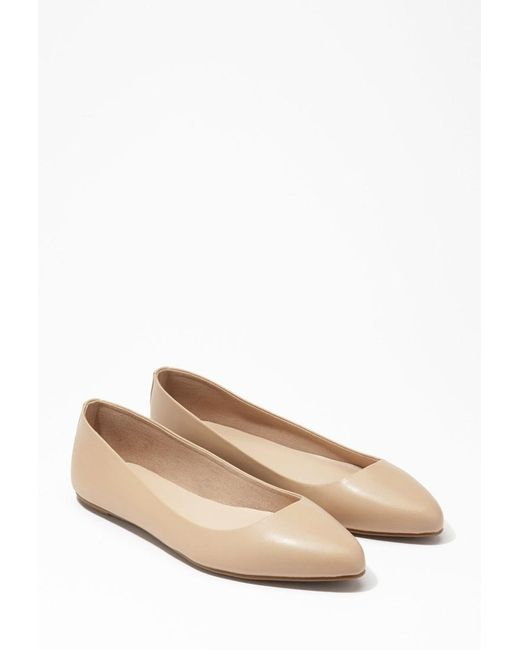 Forever 21   Brown Pointed Faux Leather Flats   Lyst