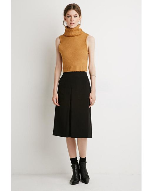 Forever 21 | Black Inverted Pleat A-line Skirt | Lyst