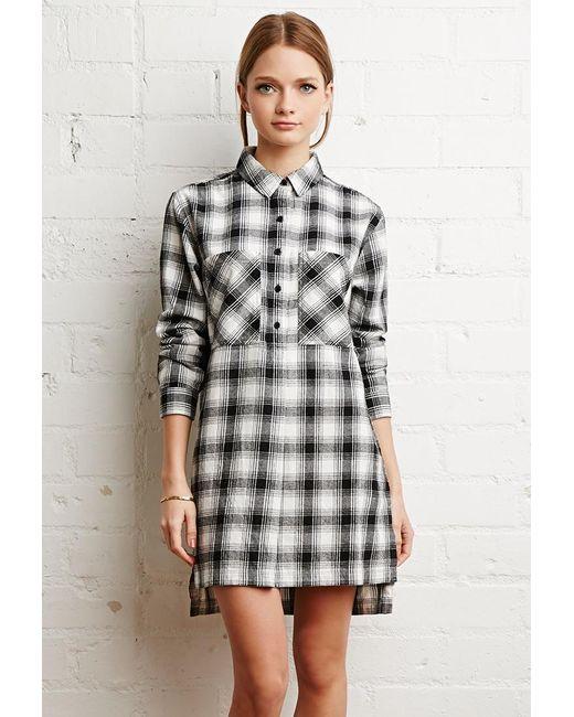 Forever 21 | Black Tartan Plaid Flannel Dress | Lyst