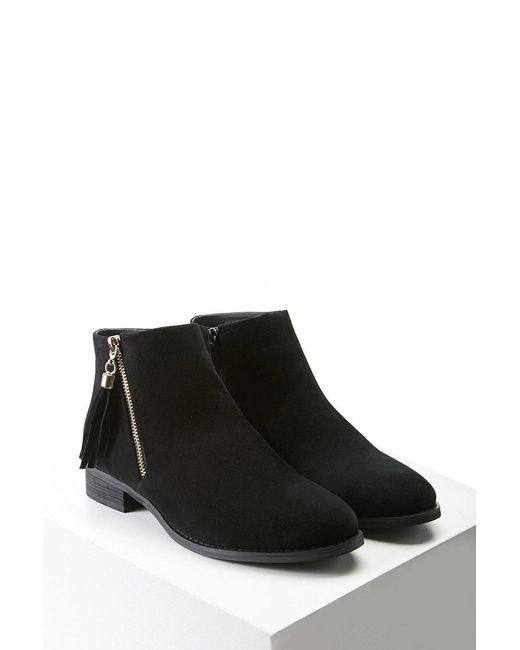 Forever 21 | Black Faux Suede Chukka Boots | Lyst