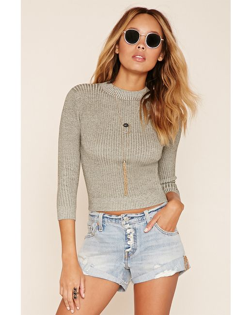 Forever 21 | Green Marled Knit Sweater | Lyst