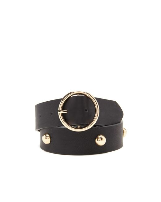 forever 21 studded faux leather belt in black lyst