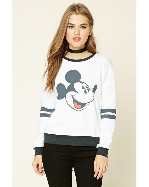 21 Mickey Mouse Nail Art Designs Ideas: Forever 21 Mickey Mouse Pyjama Sweatshirt