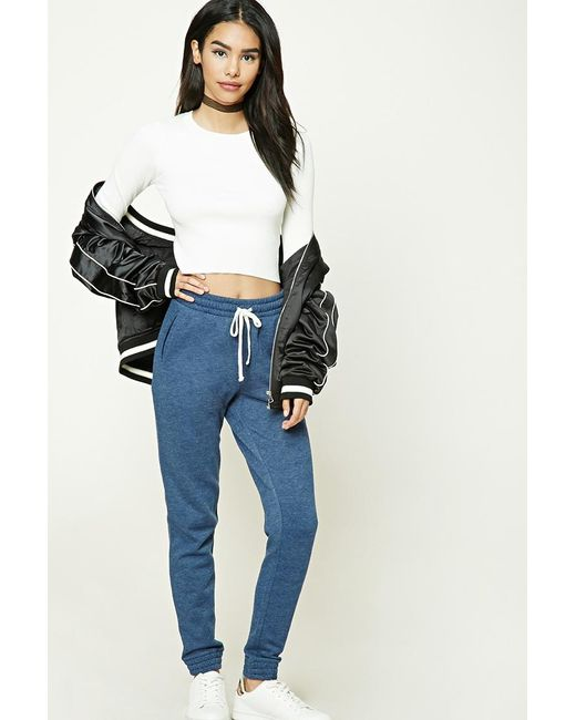 Forever 21   Blue Heathered Pocket Joggers   Lyst