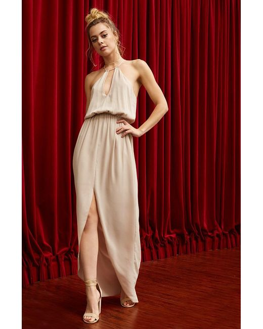 Forever 21 - Red Pretty By Rory Crepe Maxi Dress - Lyst