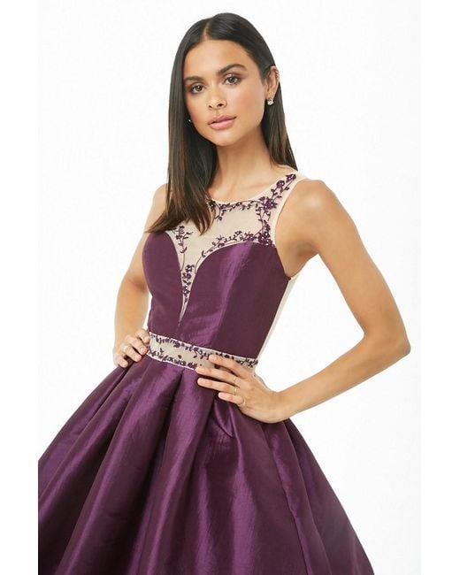 Forever 21 Purple Rhinestone Princess Homecoming Dress , Violet