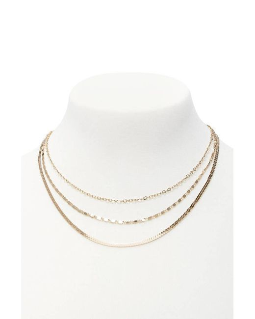 Forever 21 | Metallic Assorted Chain Necklace Set | Lyst