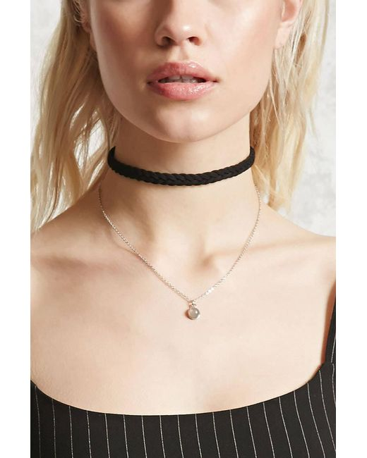 Forever 21 - Multicolor Faux Suede Layered Choker - Lyst