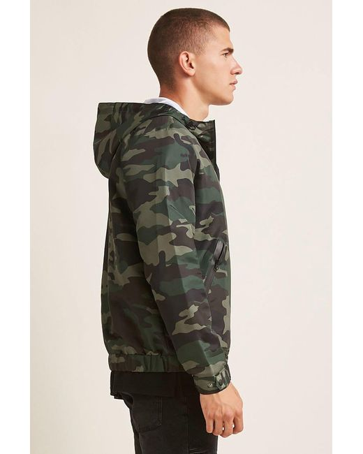7a5337ca2cef1 ... Lyst Forever 21 - Multicolor 's Camo Print Anorak Jacket for Men ...