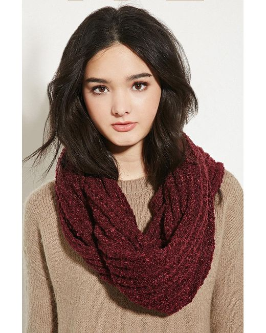 Forever 21 | Purple Open Knit Infinity Scarf | Lyst
