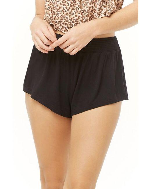 Forever 21 Black Women's Smock-waist Shorts