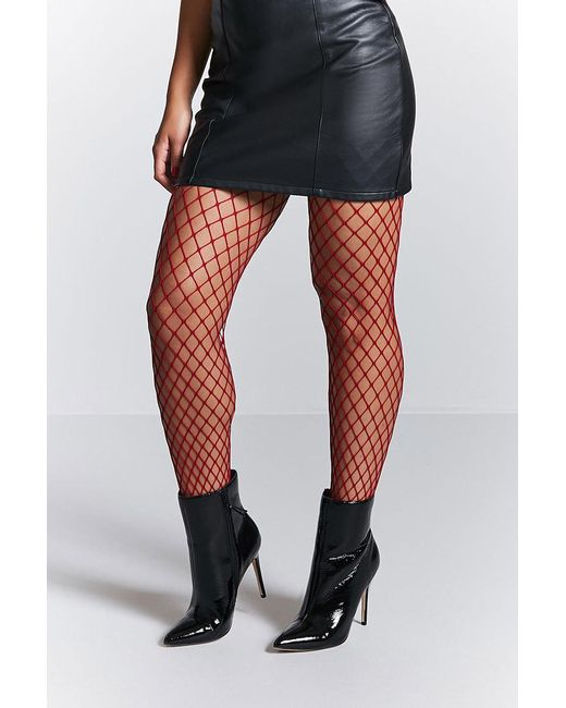 Forever 21 - Red Fishnet Tights - Lyst