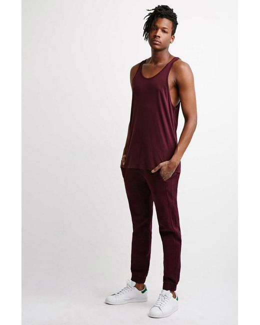 Forever 21 - Brown Garment-dyed Chino Joggers for Men - Lyst