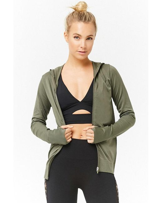 Forever 21 - Green Active Textured Zip-front Jacket - Lyst
