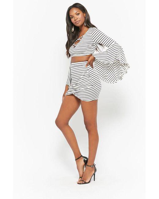 Forever 21 - Blue Striped Mini Skirt - Lyst