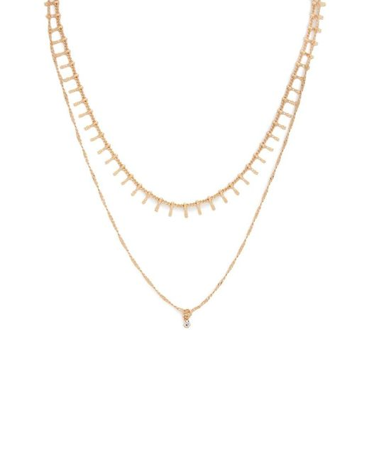 Forever 21 Metallic Etched Layered Necklace